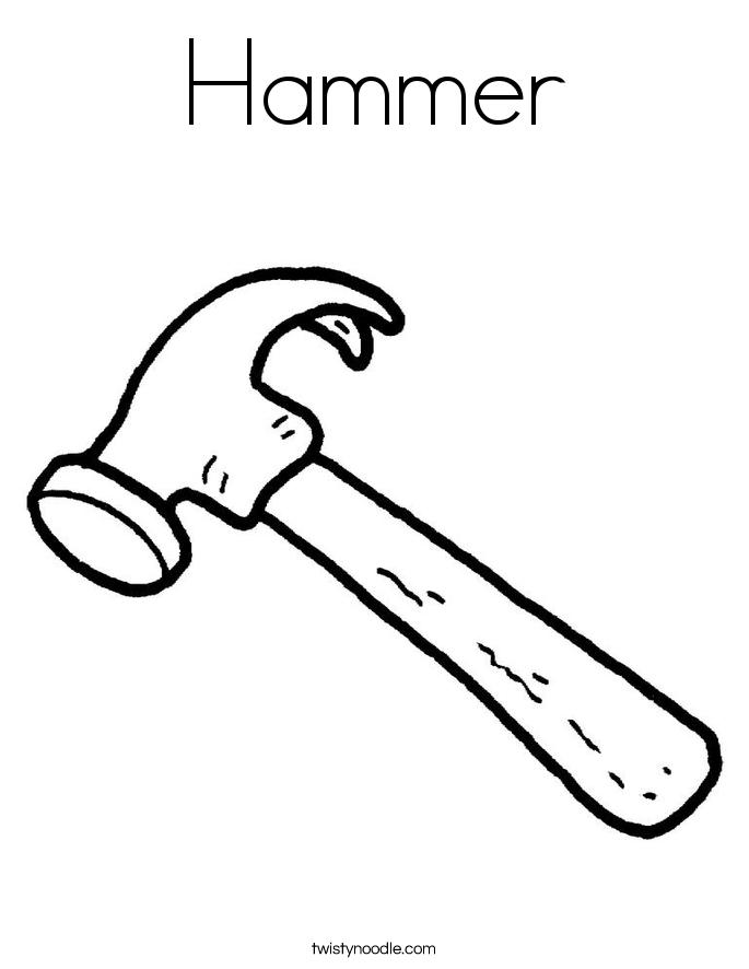 Hammer coloring #17, Download drawings