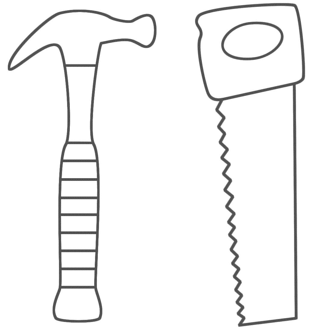 Hammer coloring #6, Download drawings