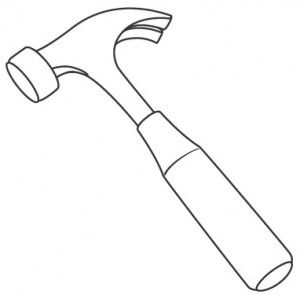 Hammer coloring #4, Download drawings