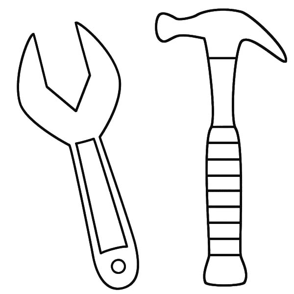 Hammer coloring #5, Download drawings