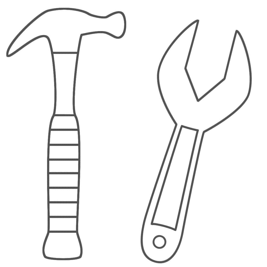 Hammer coloring #12, Download drawings