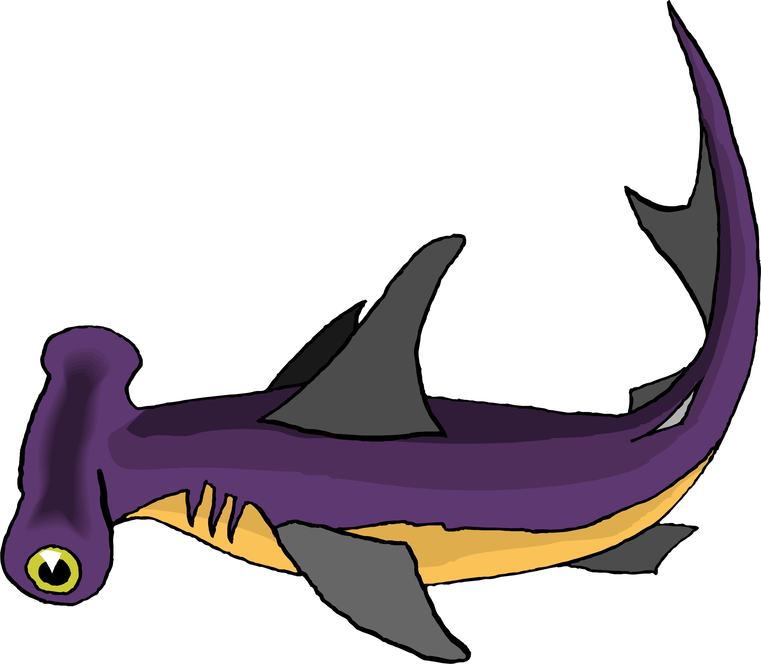 Hammerhead Shark clipart #2, Download drawings