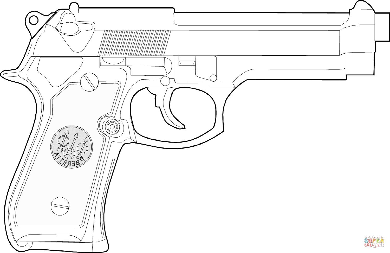 Handgun coloring #13, Download drawings