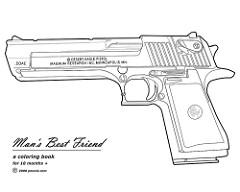 Handgun coloring #14, Download drawings