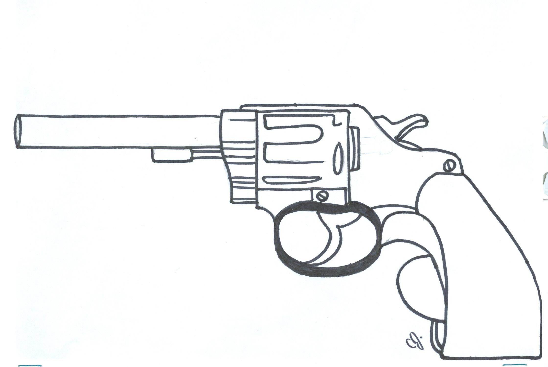 Handgun coloring #8, Download drawings