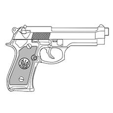 Handgun coloring #3, Download drawings