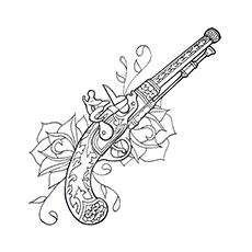 Handgun coloring #2, Download drawings