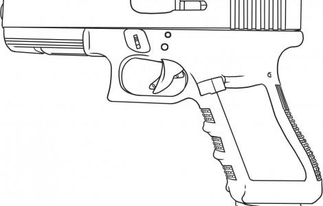 Handgun coloring #16, Download drawings