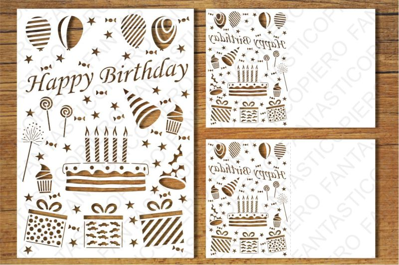happy birthday card svg free #419, Download drawings