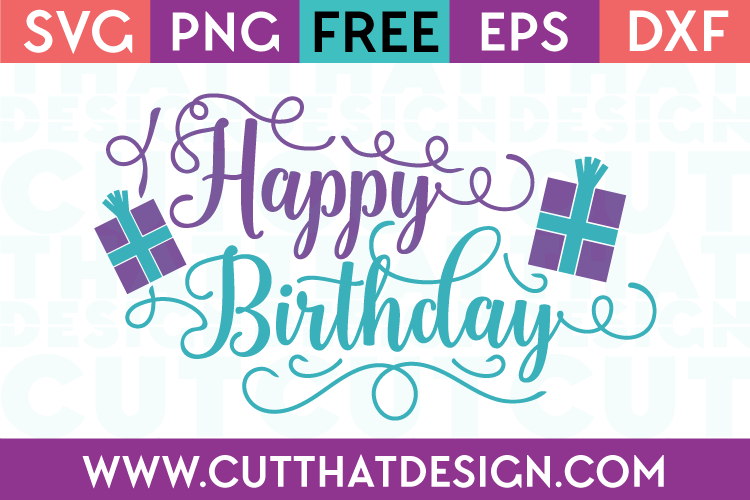 happy birthday card svg free #425, Download drawings