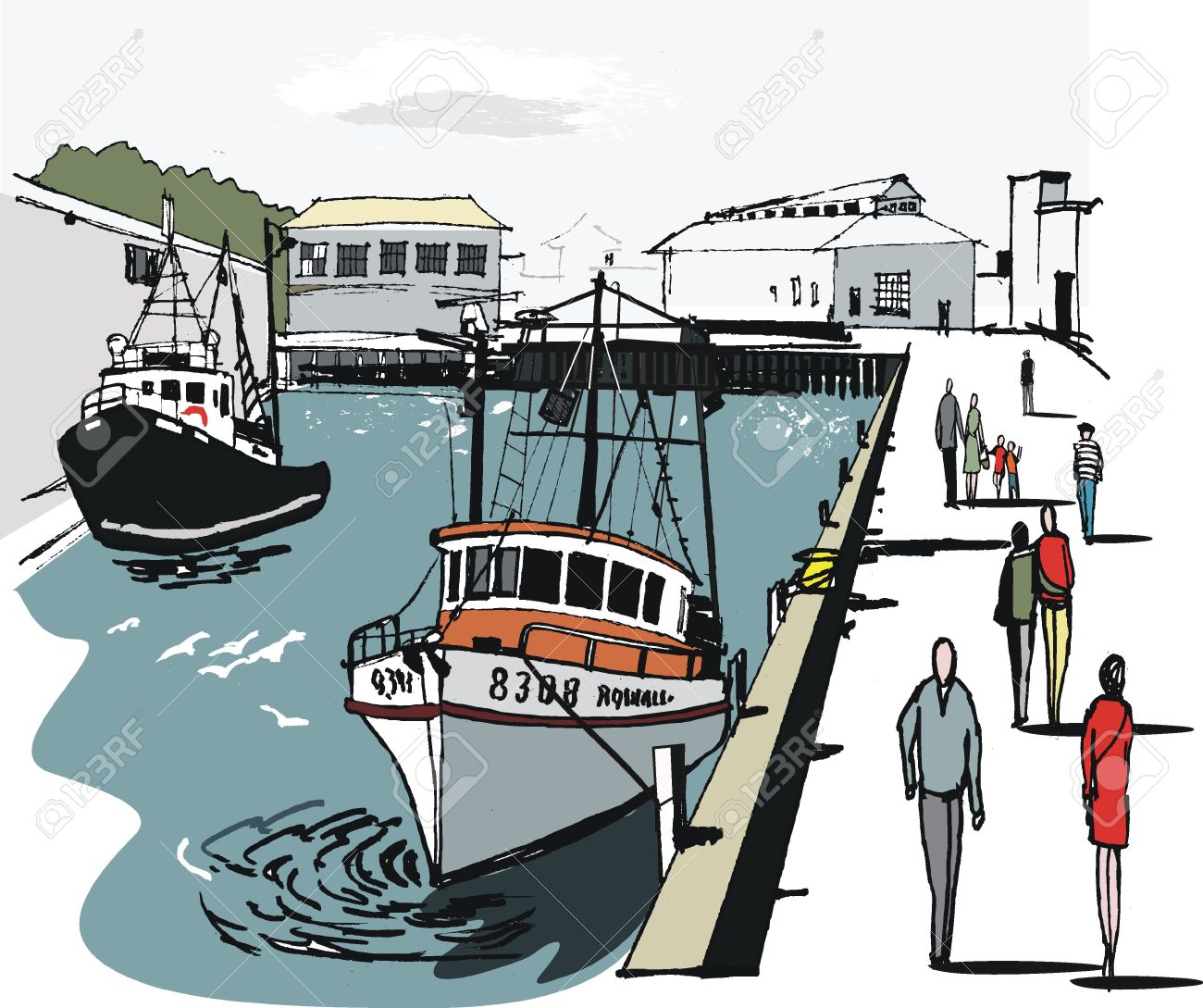 Harbor clipart #9, Download drawings