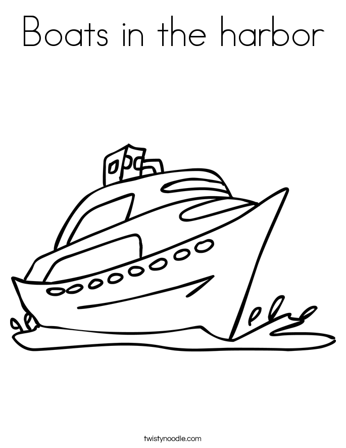 Harbor coloring #19, Download drawings