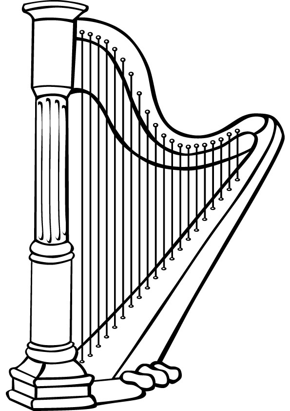 Harp coloring #18, Download drawings