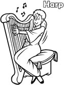 Harp coloring #15, Download drawings