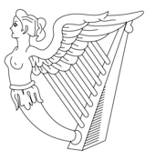 Harp coloring #9, Download drawings