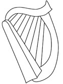 Harp coloring #10, Download drawings