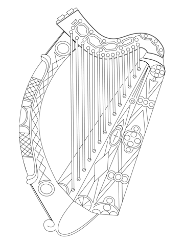 Harp coloring #16, Download drawings