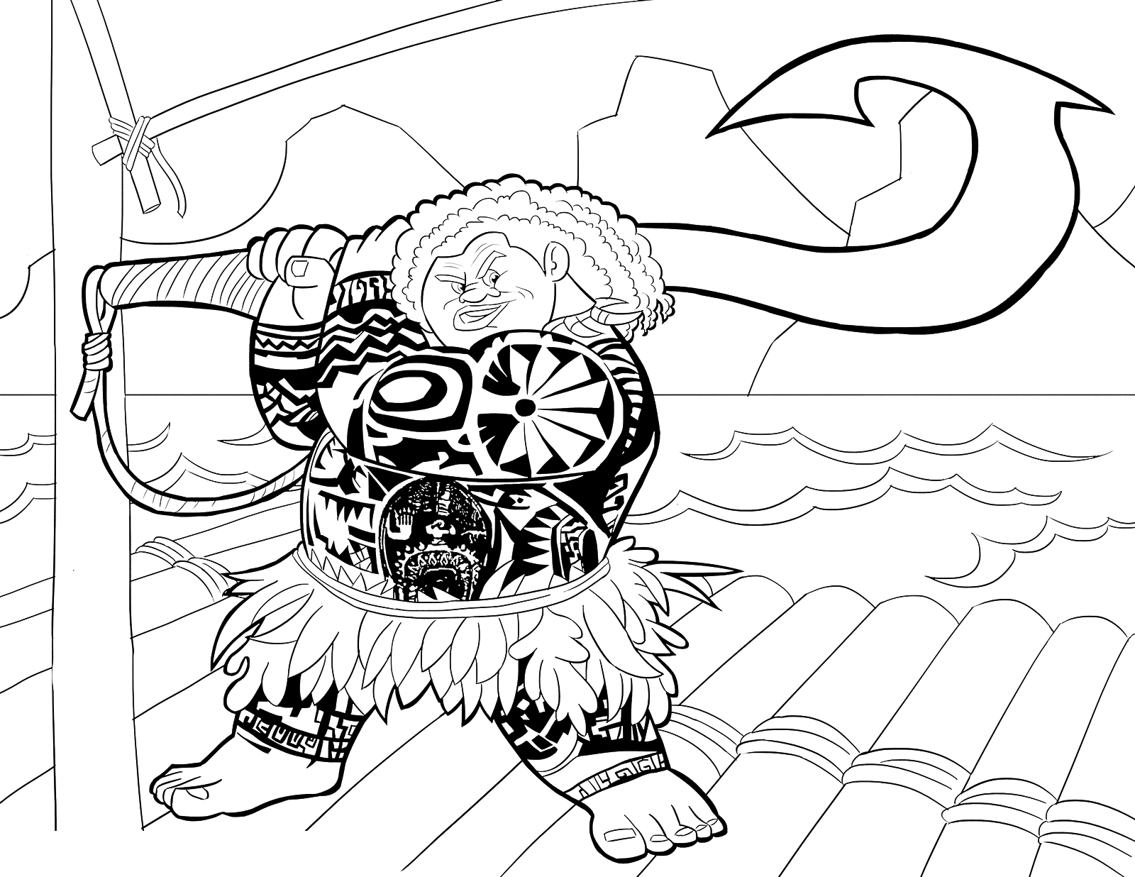 Harpoon coloring #5, Download drawings