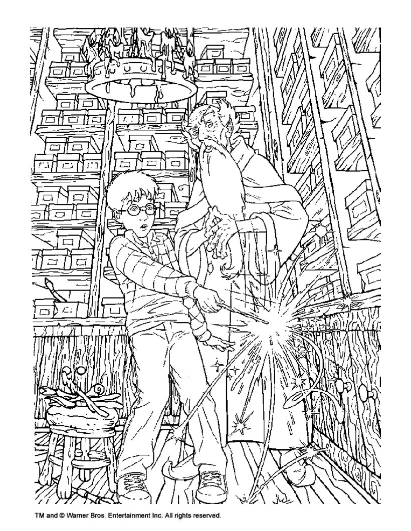 Harry Potter coloring #6, Download drawings