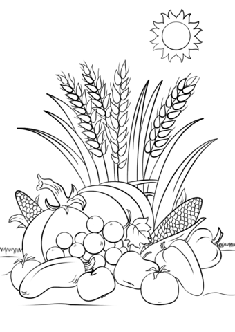 Harvest coloring #6, Download drawings