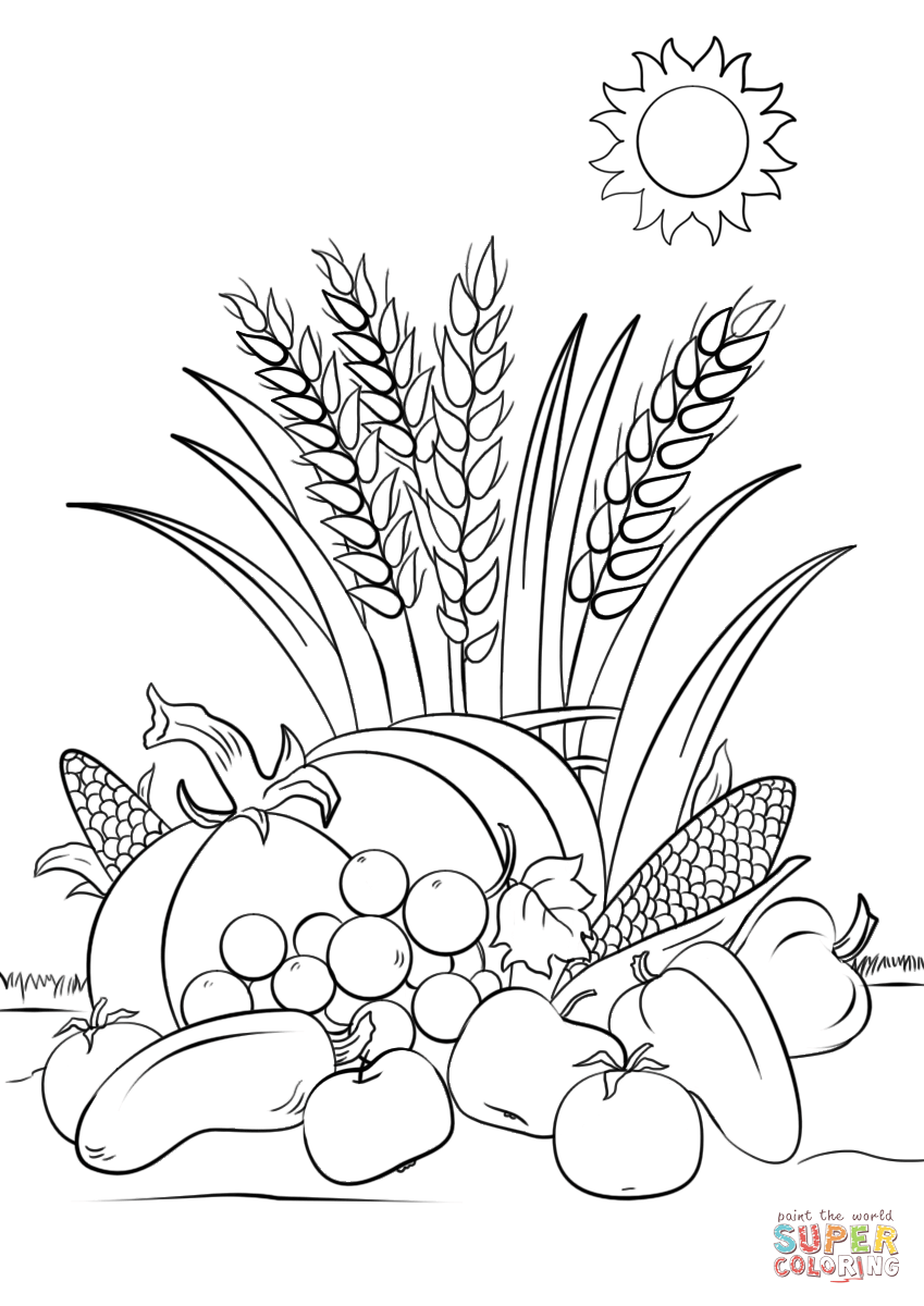 Harvest coloring #14, Download drawings