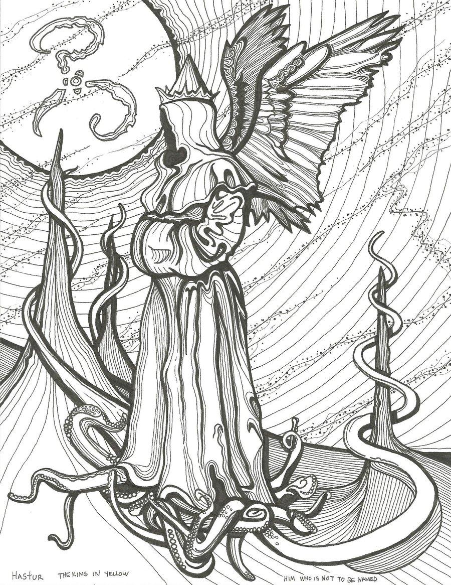 Hastur coloring #12, Download drawings