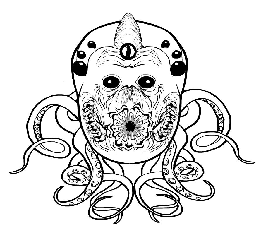Hastur coloring #1, Download drawings