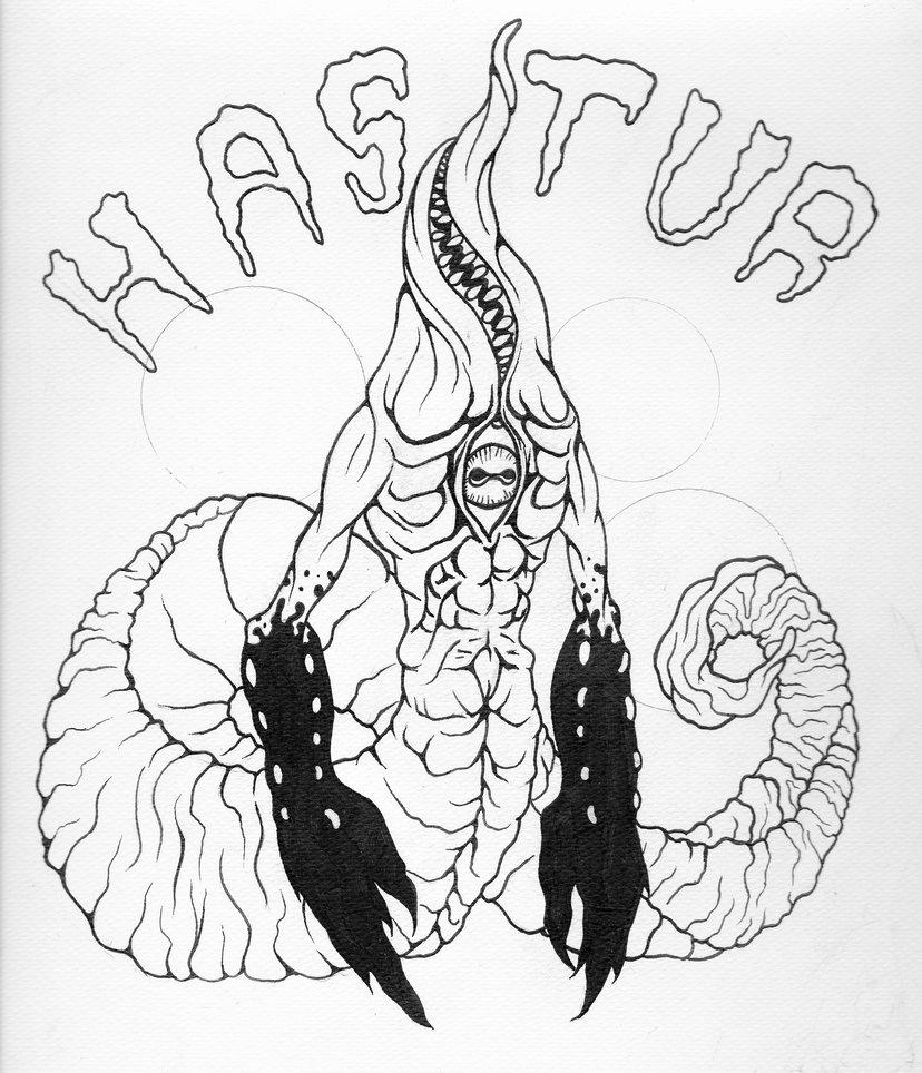 Hastur coloring #14, Download drawings