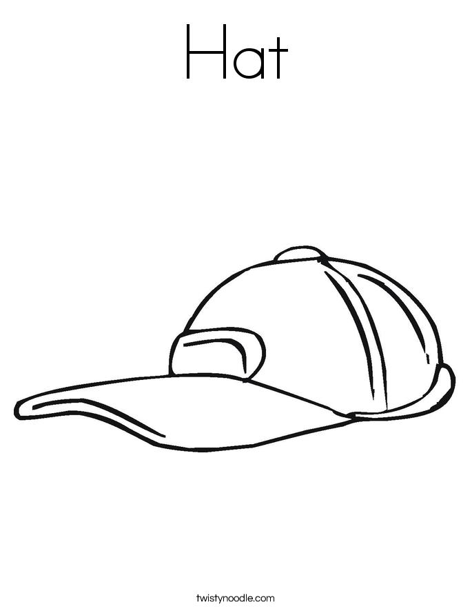 Hat coloring #5, Download drawings