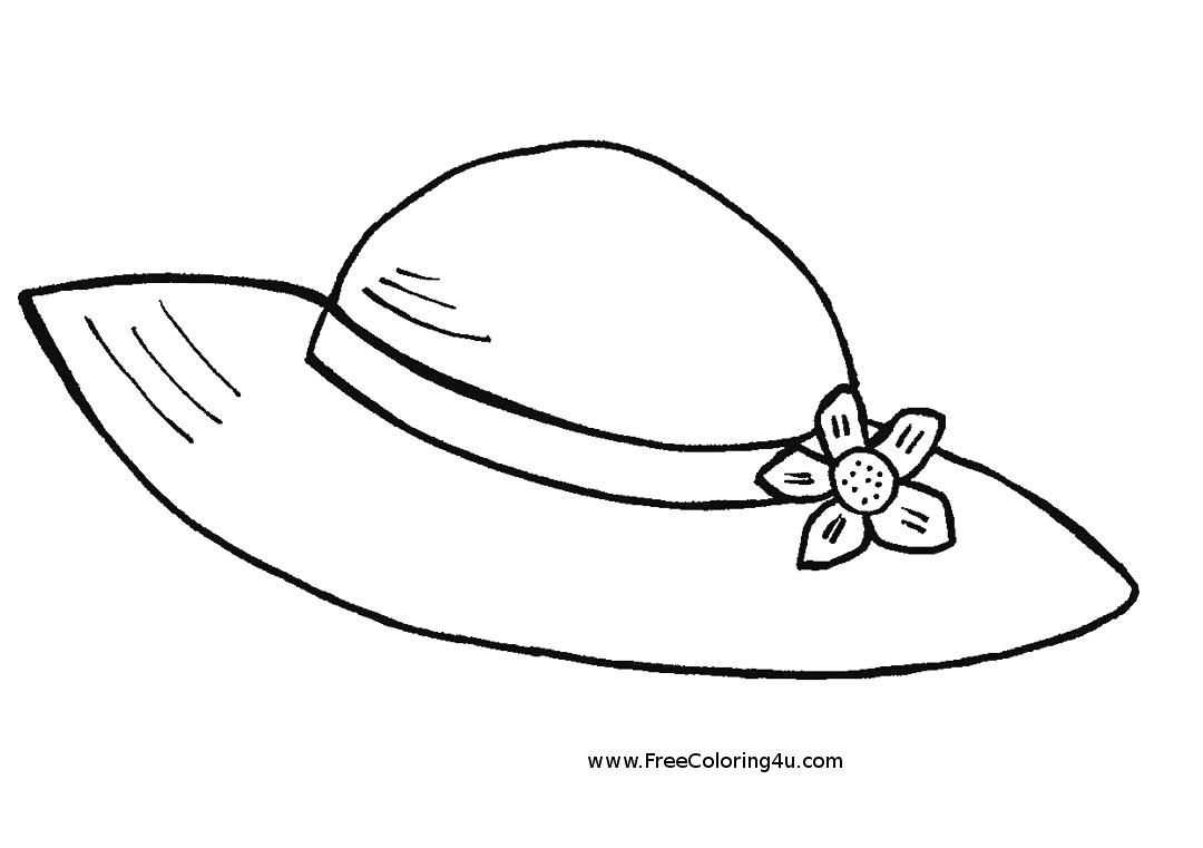 Hat coloring #1, Download drawings