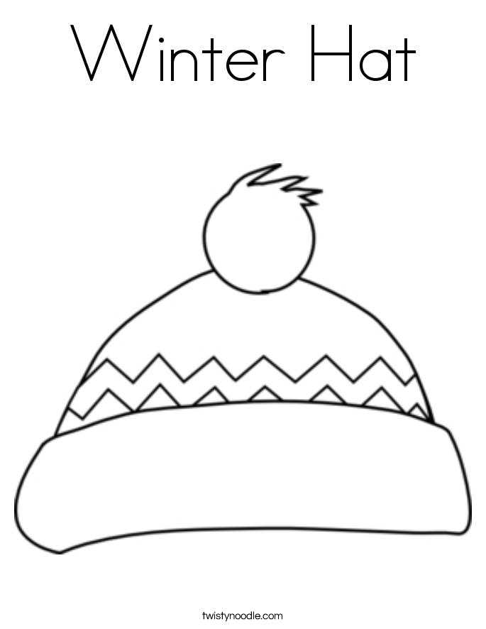 Hat coloring #19, Download drawings