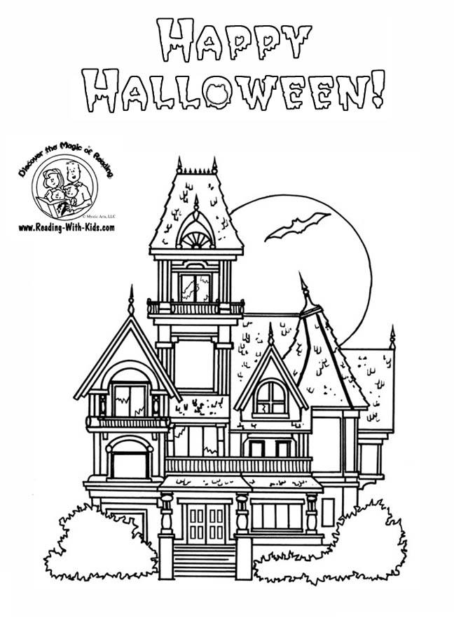 Haunt coloring #8, Download drawings