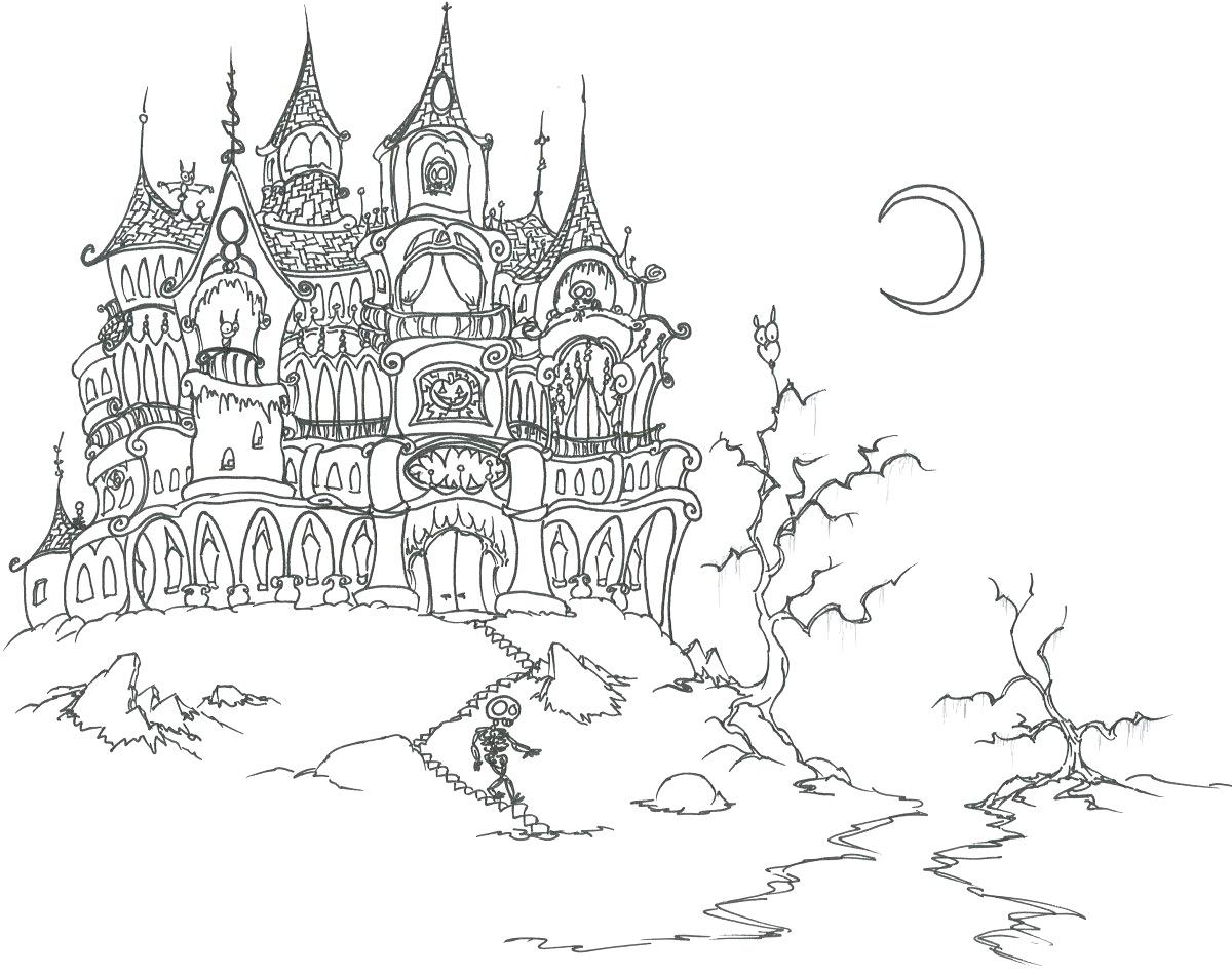 Haunt coloring #1, Download drawings