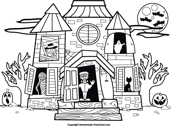 Haunt coloring #15, Download drawings