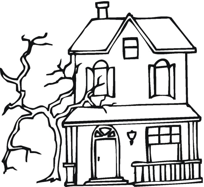Haunted coloring #12, Download drawings