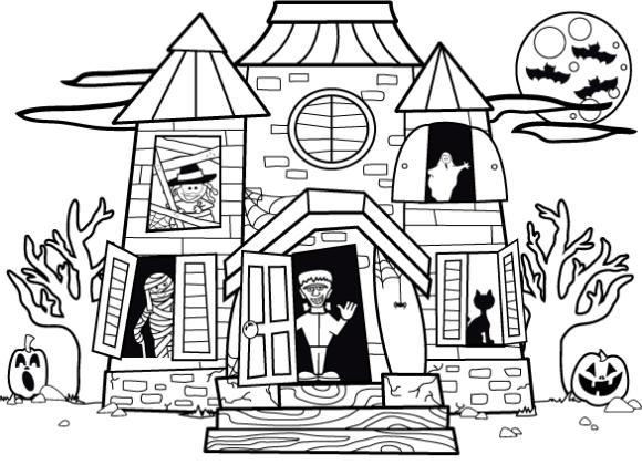 Haunted coloring #11, Download drawings
