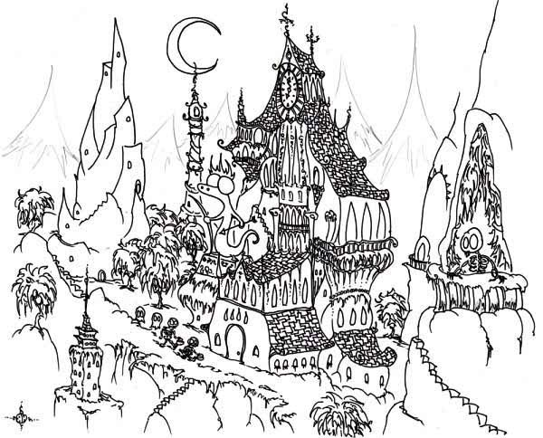 Coloring Fun Halloween Haunted House Pages 98: Haunted Coloring, Download Haunted Coloring