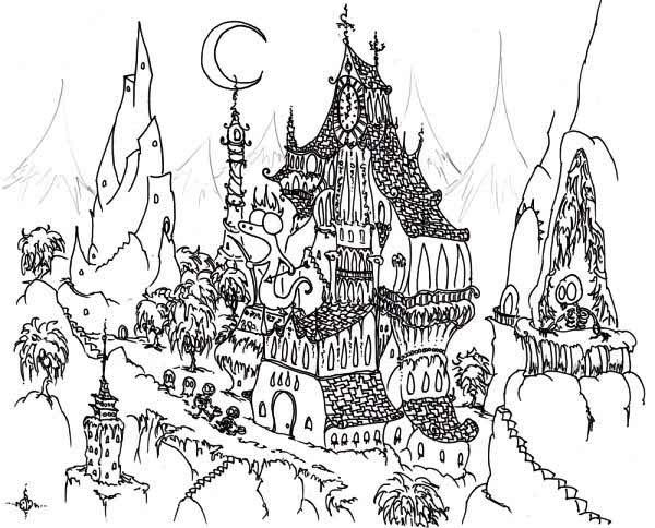 Haunted coloring #2, Download drawings