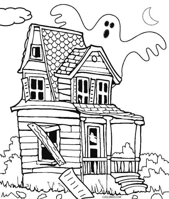 Haunted coloring #14, Download drawings