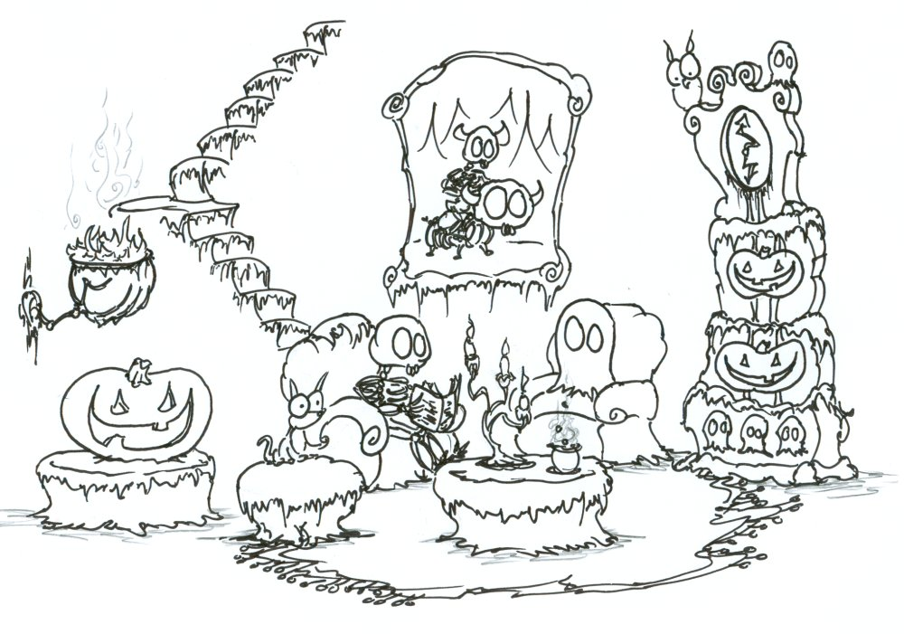 Haunted coloring #6, Download drawings
