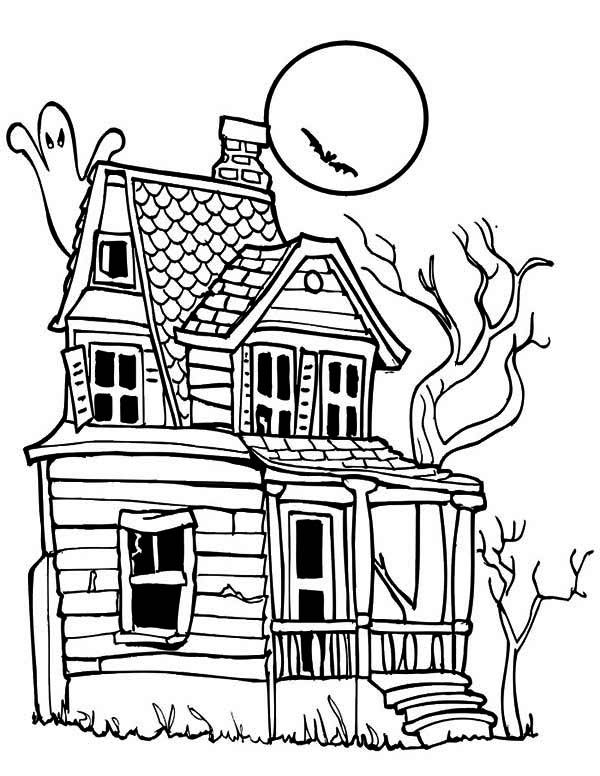Haunted House coloring #11, Download drawings