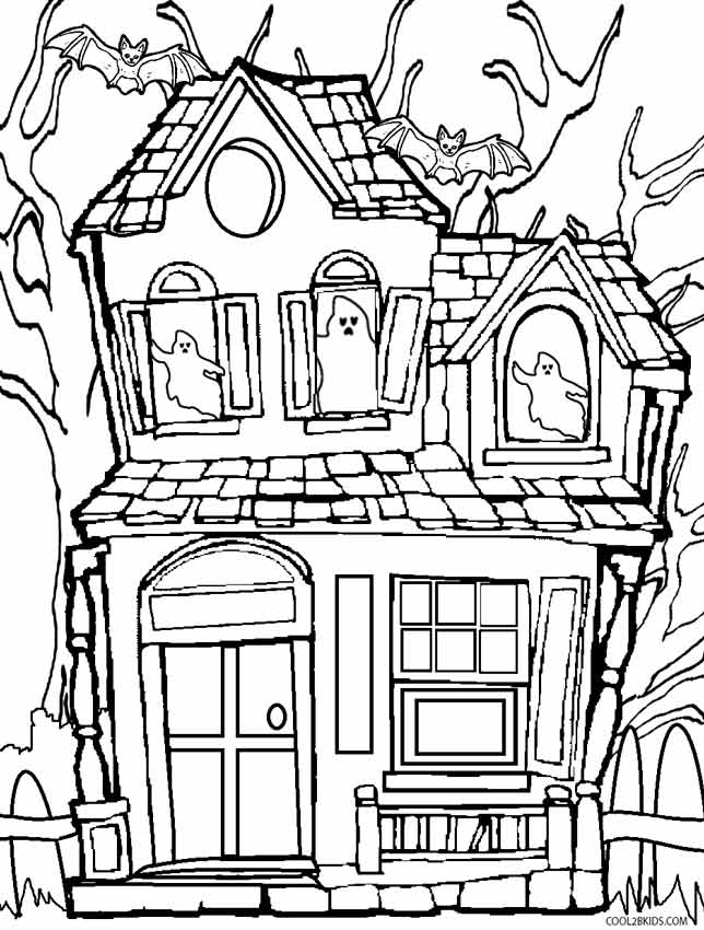 Haunted House coloring #10, Download drawings
