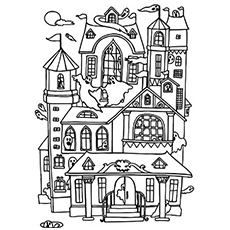 Haunted House coloring #12, Download drawings