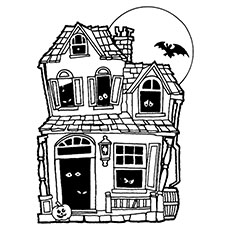 Haunted House coloring #20, Download drawings
