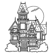 Haunted House coloring #19, Download drawings
