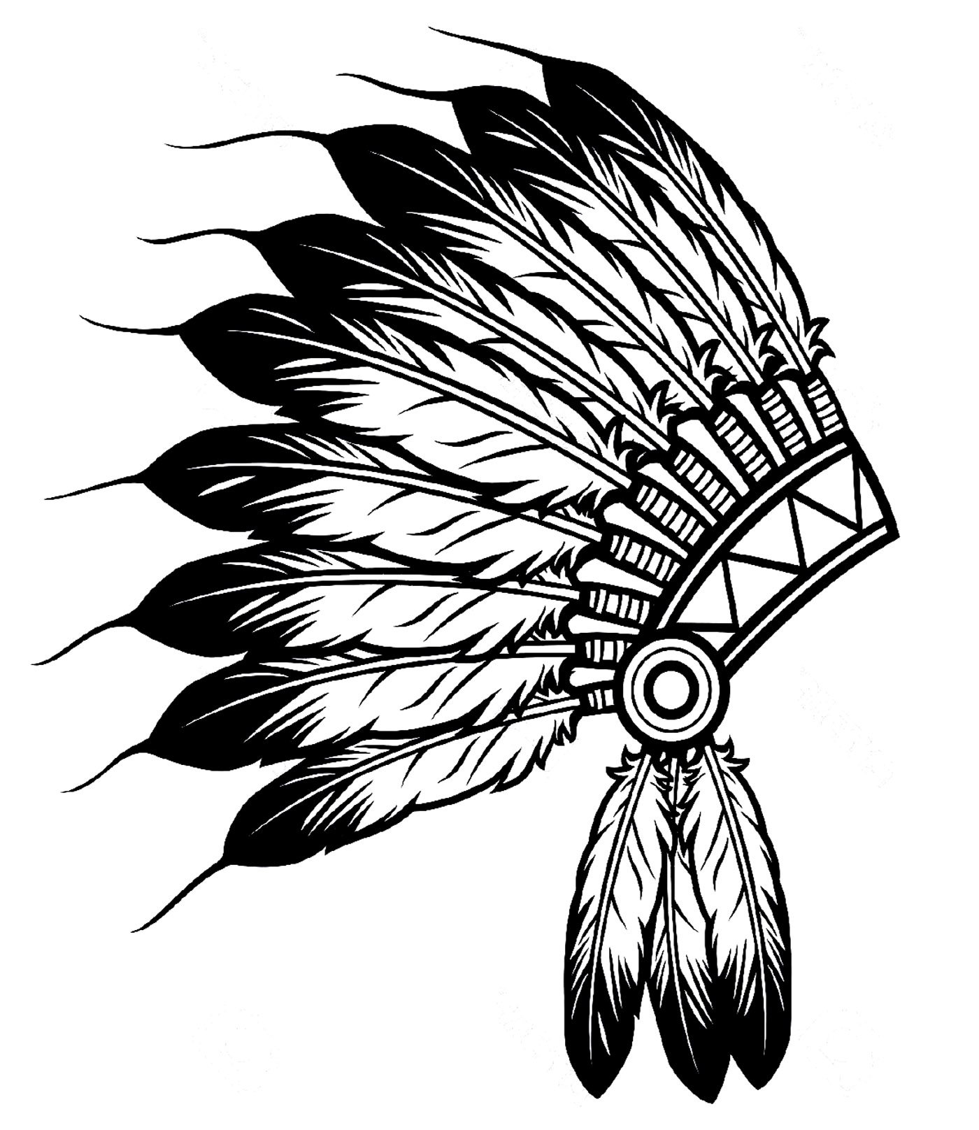 Headdress coloring #15, Download drawings