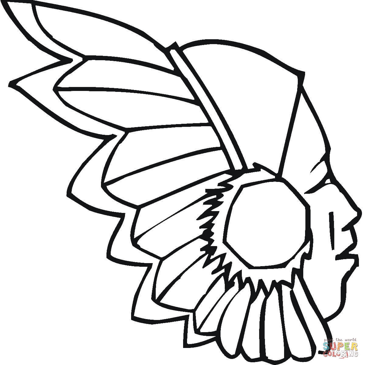 Headdress coloring #4, Download drawings