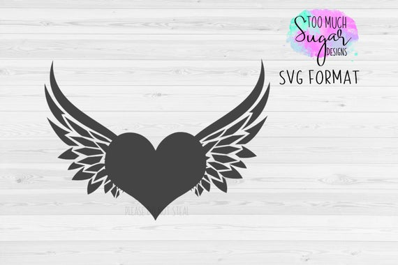 heart with wings svg #650, Download drawings