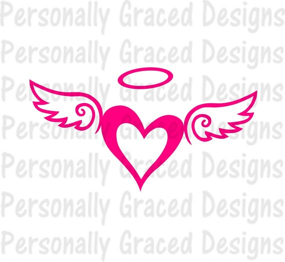 heart with wings svg #649, Download drawings