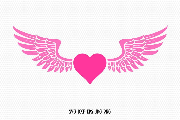 heart with wings svg #646, Download drawings